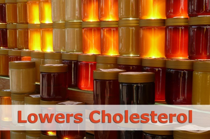 honey lowers cholesterol